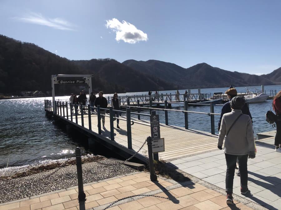 中禅寺湖の桟橋